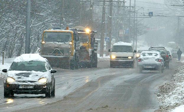 Зимни пътища, зима, времето, сняг, виелица, снегорини