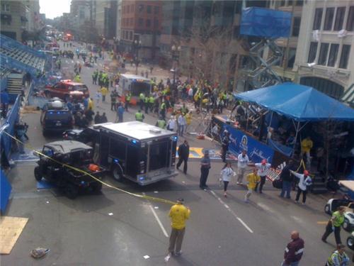 Експлозия на маратона в Бостън