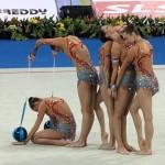 Ансамбълът по художествена гимнастика спечели златните медали в многобоя на Световната купа в София