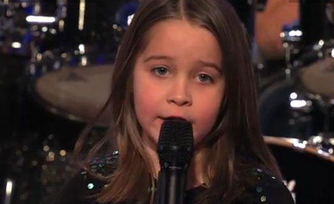 """6-годишно момиченце потресе журито на """"Америка търси таланти"""""""