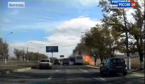 Ексклузивно видео: Вижте как жената-камикадзе взривява автобуса във Волгоград!