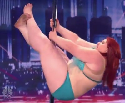 """Уникалното изпълнение на пухкавата Лулу в """"Америка търси талант"""""""
