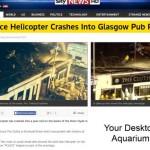 Хеликоптер се разби в кръчма и уби поне трима (видео)