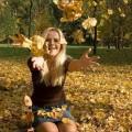 Есен, време, сезони, времето, гора, момиче, девойка