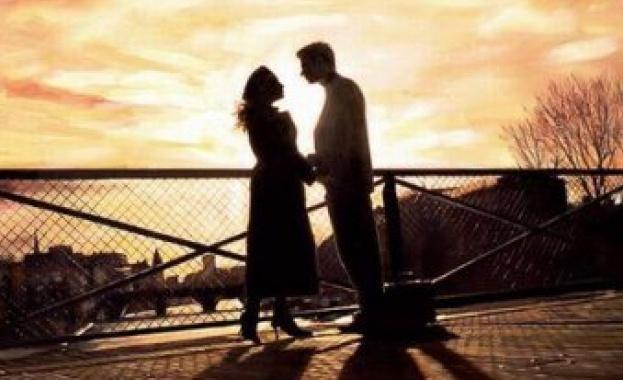 Двойка, влюбени, романтика