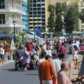 Слънчев бряг, туристи, хотели, плаж, лято, море