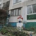 Параклис пред блок в Бургас