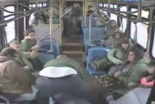 бой в автобус