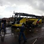 Вижте как взривиха автобуса с туристите в Египет