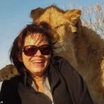 Лъвица гушна жена за снимка