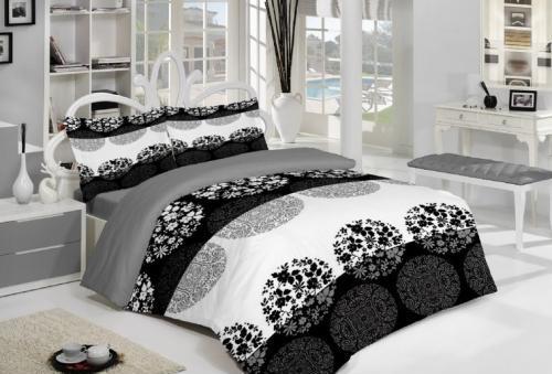 Модни тенденции при спалното бельо. На снимката - Спално бельо Агата