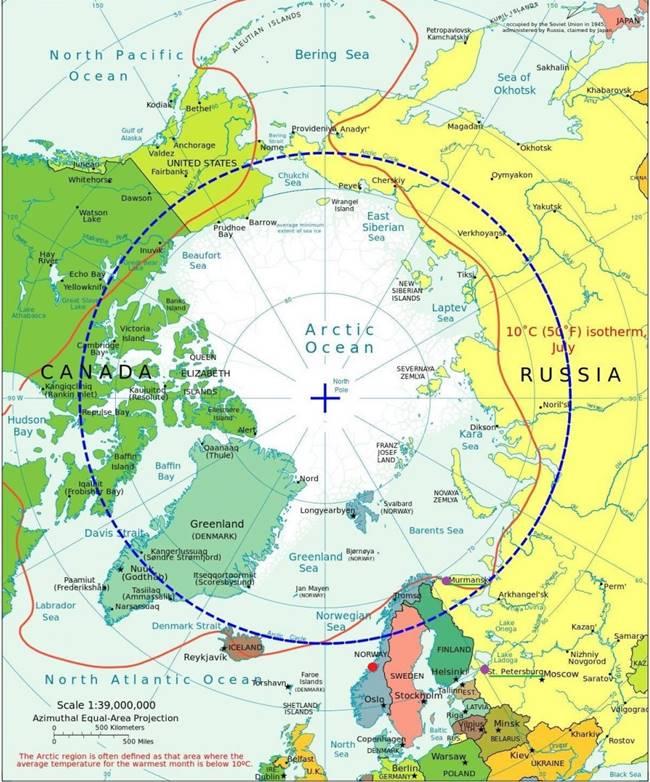 В червено може да видите базата Ерлан, а в лилаво Мурманск и Санкт Петербург