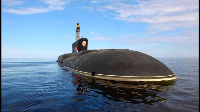 """Атомната подводница """"Княз Олег""""."""